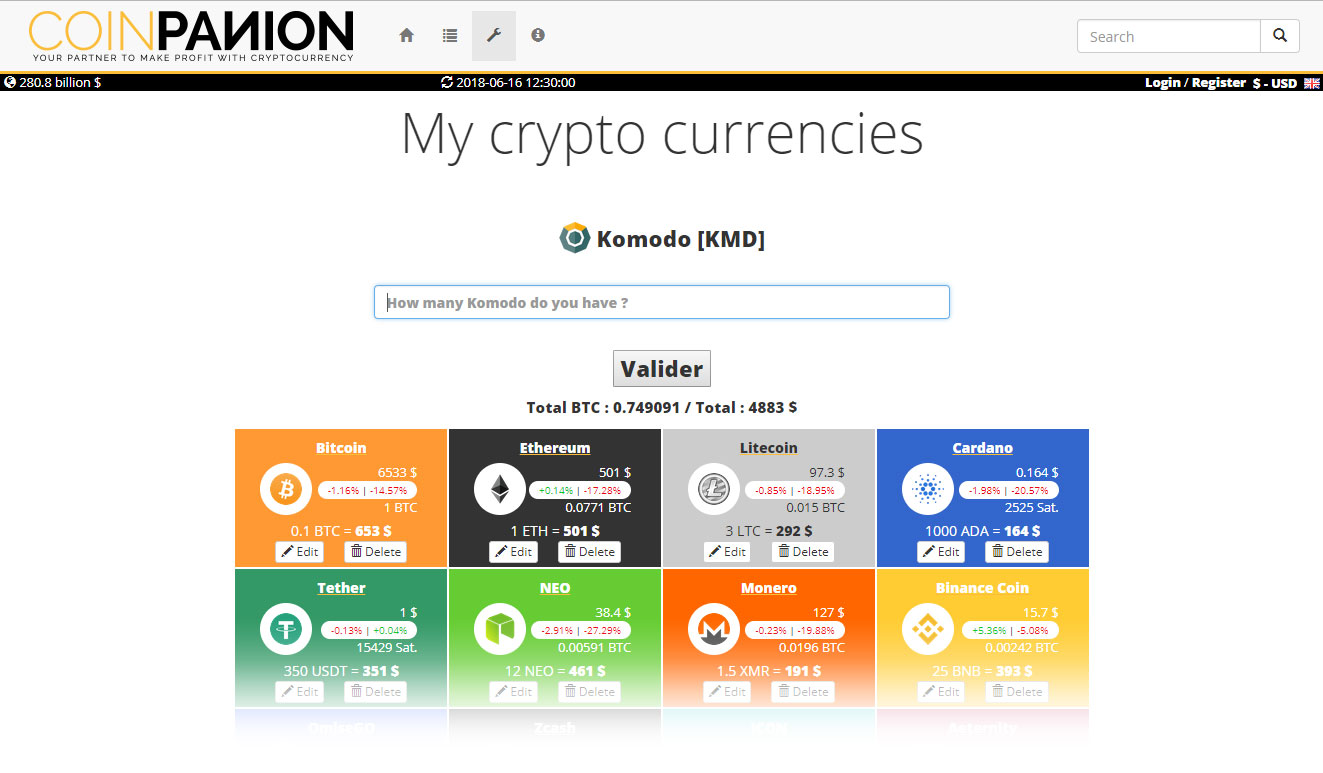 walletor add cryptocurrencies step 2
